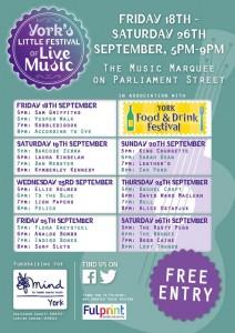 York Little Music Festival 2015 flyer